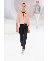 Chanel Spring 2012 Black High Waist Pants - Lyst