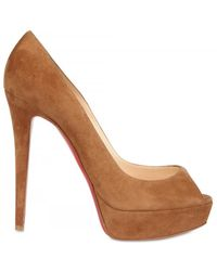 Christian Louboutin 140mm Banana Suede Pumps - Lyst