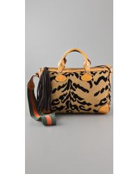 M Missoni - Top Handle Bag with Striped Strap - Lyst