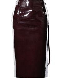 Maison Margiela Patent-leather Pencil Skirt - Lyst
