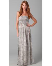 Twelfth Street Cynthia Vincent - Strapless Print Maxi Dress - Lyst