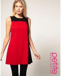 ASOS Collection Asos Petite Exclusive Colour Block Dress - Lyst