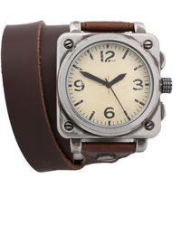 Asos Asos Wraparound Leather Watch brown - Lyst