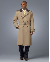 Joseph Abboud - Quentin Belted Double-breasted Trench Coat - Lyst