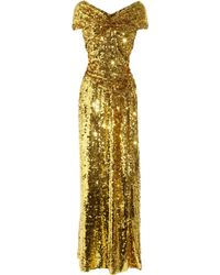Vivienne Westwood Gold Label Long Glazing Metallic Sequined Gown - Lyst