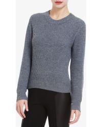 BCBGMAXAZRIA Sage Waffle-stitch Wool-blend Sweater - Lyst