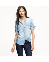 J.Crew Keeper Chambray Shirt blue - Lyst