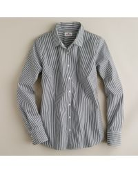 J.Crew Stretch Perfect Shirt In Classic Stripe gray - Lyst