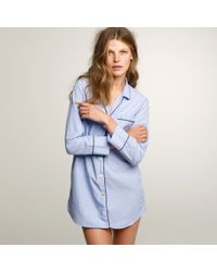 J.Crew Nightshirt In End-On-End Cotton blue - Lyst
