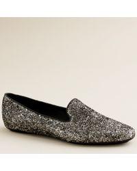 J.Crew Darby Glitter Loafers - Lyst
