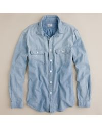 J.Crew Selvedge Chambray Utility Shirt - Lyst