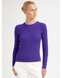 Ralph Lauren Black Label Cashmere Cable-knit Pullover - Lyst