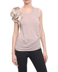 Valentino Sleeveless Cotton T-shirt  - Lyst