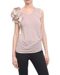 Valentino Sleeveless Cotton T-shirt  pink - Lyst