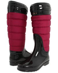 Burberry Quilted Rainboot - Lyst