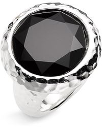 Simon Sebbag Faceted Black Onyx Hammered Stone Ring - Lyst