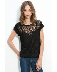 Marc By Marc Jacobs Dahlia Jersey and Lace Top - Lyst