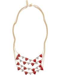 Madewell Deco Disc Multistrand Necklace - Lyst