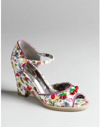 Poetic Licence - Sweet Shirley Temple Peep-toe Wedge Court Shoes - Lyst