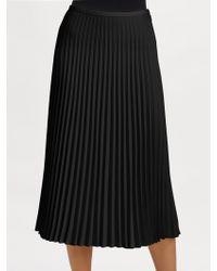 Ralph Lauren Black Label Pleated Edwina Skirt - Lyst