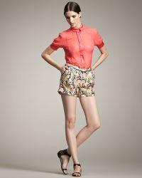 Jason Wu Printed Silk Shorts - Lyst