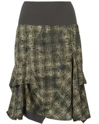 Sandwich - Checked Woven Skirt Green - Lyst