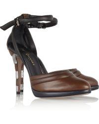 Vionnet - Contrast Leather Court Shoes - Lyst