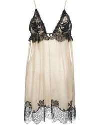 Jenny Packham - Lace and Silk Chemise - Lyst