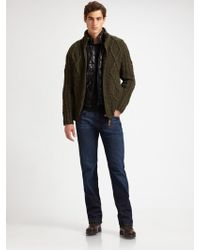 Scotch & Soda Cabled Zip-up Sweater - Lyst