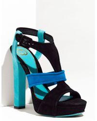 Gucci Andie Chunky Platform Sandal blue - Lyst