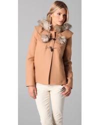 Juicy Couture - Pom Pom Coat - Lyst