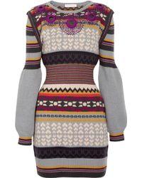 Matthew Williamson Gibb Embellished Wool Dress - Lyst