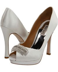 Badgley Mischka Julia - White Satin - Lyst
