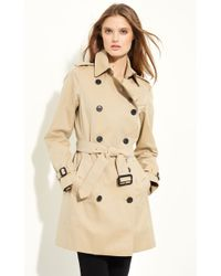 Burberry London 'Buckingham' Double Breasted Cotton Trench - Lyst
