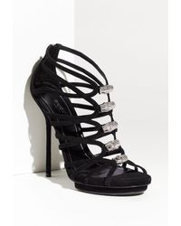 Gucci Jenna Caged Platform Sandal - Lyst