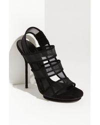 Gucci Mesh Strap Sandal - Lyst