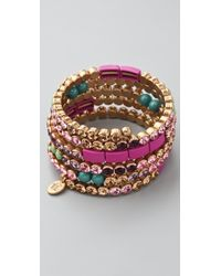 Juicy Couture - Hard Core Couture Rhinestone Coil Bracelet - Lyst