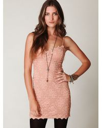 Free People Scallop Lace Tube Dress - Lyst