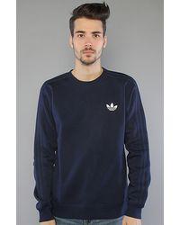 Adidas The Sport Crew Sweatshirt in Indigo - Lyst