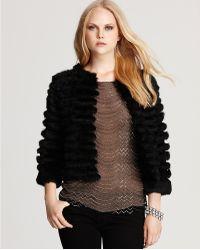 Alice + Olivia Honor Rabbit Fur Jacket - Lyst