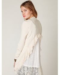 Free People Cropped Back Layered Jacket - Lyst