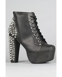 Jeffrey Campbell The Lita Spike Shoe in Black with Silver Studs - Lyst