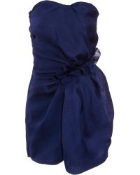 Lanvin Ruched Dress - Lyst