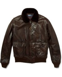 Lyst - Shop Men's Polo Ralph Lauren Leather Jackets from $226