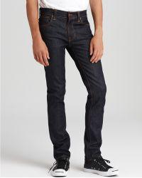 Nudie Jeans - Thin Finn Slim Fit In Organic Dry Ecru Embo - Lyst