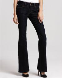 Ash - Paige Denim Hidden Hills High Rise Flare Jeans in Memphis Wash - Lyst