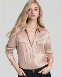 Ash - Equipment Signature Sandwashed Satin Blouse - Lyst