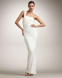Donna Karan New York Twist One-shoulder Gown - Lyst