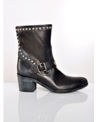 Lama Peach Peta Ankle Boots with Studs - Lyst