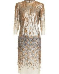 Prabal Gurung Beaded Feather Dress - Lyst